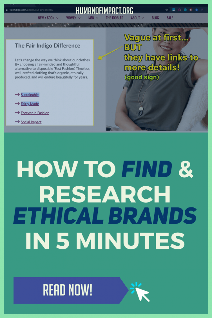 Let me show you (with pictures!) how to find and research ethical brands and products. It takes as little as 5 minutes - that's faster than driving to the store! #sustainable #ethicalshopping #sustainableshopping #sustainablebrands #shoppingtips #ethicalshoppingguide