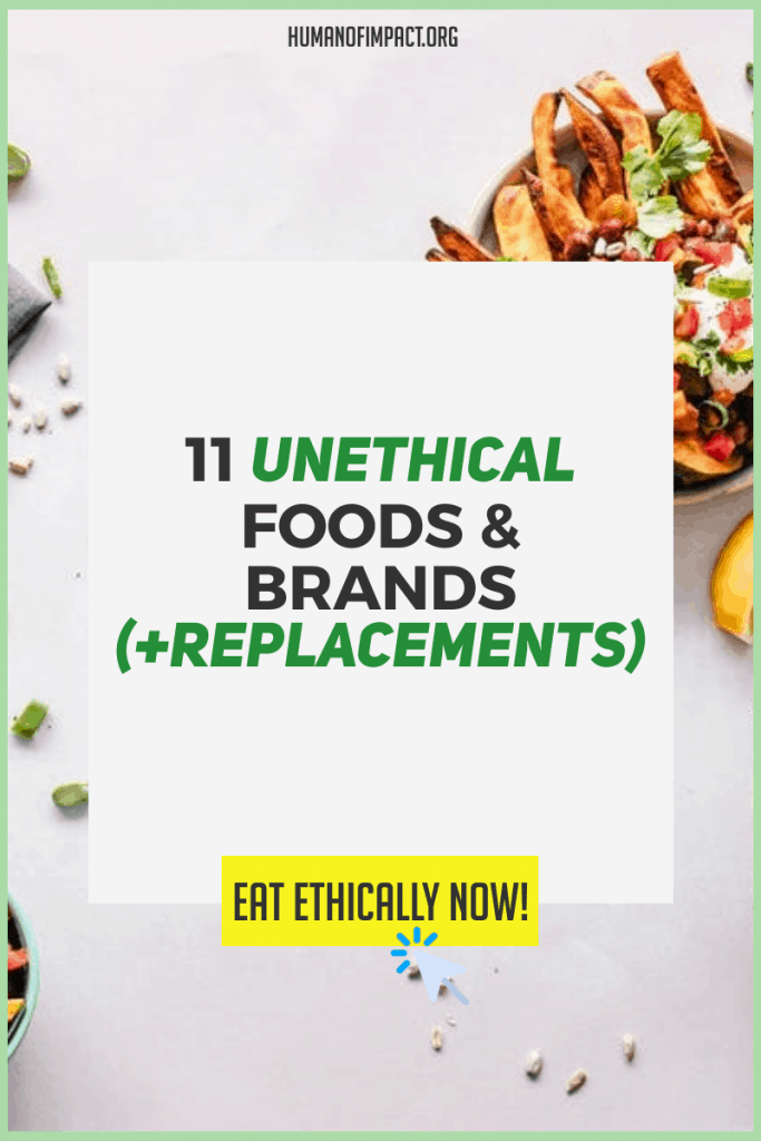 Knowing about unethical foods and food brands helps you make informed and empowered choices. This lets us mobilize together for more systemic change. #nonethicalfoods #unethicalbrands