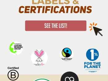 Ethical shopping is confusing! Bookmark this big list of ethical and eco-friendly labels and certifications so that you know what to look for. This huge list is categorized into environmental certifications, fair labor certifications, ethical rating systems and more! There is even a