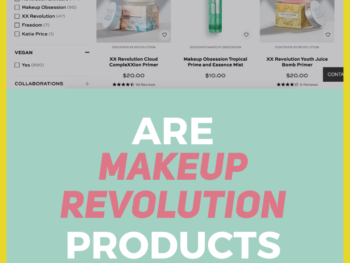 Looking for the best Makeup Revolution palettes? Makeup Revolution, also known as Revolution Beauty, is a makeup brand based in the UK. But if you're a conscious shopper, you're probably wondering if Makeup Revolution is cruelty-free and if the brand aligns with your other ethical values. #ethicalbeauty #veganbeauty #sustainablebeauty